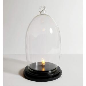 Fijn geblazen glazen stolpje met verlichting